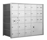 4B+ Front-Loading Horizontal Mailboxes - 20 Tenant Doors and 1 Parcel Locker