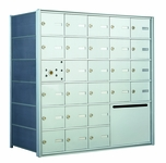 1400 Series Front-Loading Horizontal Mailboxes - 25 doors and 1 outgoing mail collection