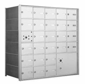 1400 Series Front-Loading Horizontal Mailboxes - 25 Tenant Doors and 1 Parcel Locker