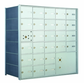 1400 Series Front-Loading Horizontal Mailboxes - 25 doors and 1 parcel locker