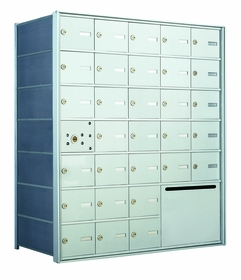 1400 Series Front-Loading Horizontal Mailboxes - 30 doors and 1 outgoing mail collection