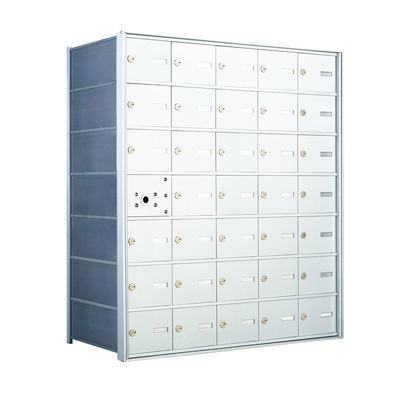 1400 Series Front-Loading Horizontal Mailboxes - 34 Tenant Doors And 1 USPS Master Door
