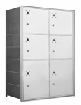 1400 Series Front-Loading Horizontal Mailboxes - 6 Large Parcel lockers