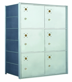 1400 Series Front-Loading Horizontal Mailboxes - 6 Parcel lockers