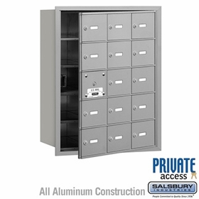 Salsbury 3615AFP 4B Mailboxes 14 Tenant Doors Front Loading - Private Access
