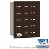 Salsbury 3615ZRP 4B Mailboxes 14 Tenant Doors Rear Loading - Private Access
