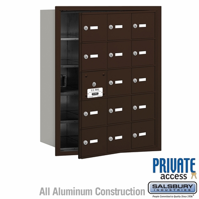 Salsbury 3615ZFP 4B Mailboxes 14 Tenant Doors Front Loading - Private Access