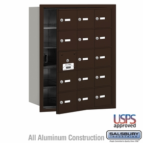 Salsbury 3615ZFU 4B Mailboxes 14 Tenant Doors Front Loading - USPS Access