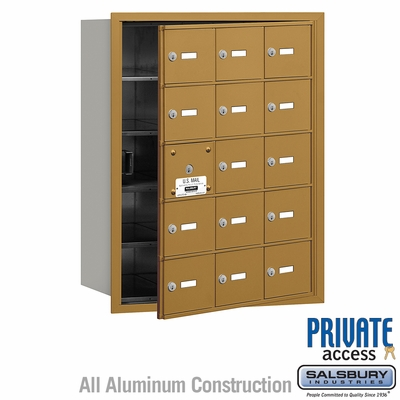 Salsbury 3615GFP 4B Mailboxes 14 Tenant Doors Front Loading - Private Access