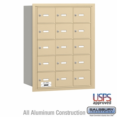 Salsbury 3615SRU 4B Mailboxes 14 Tenant Doors Rear Loading - USPS Access