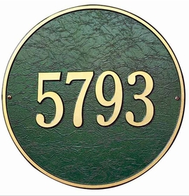 "Whitehall 15"" ROUND Wall or Lawn Plaque - (1 Line)"