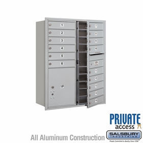 15 Doors 1 Parcel Unit - Front Loading Private 4C Mailbox
