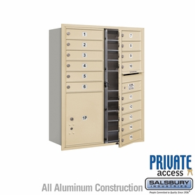 4C Horizontal Mailboxes for Private Delivery