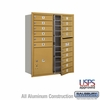 Salsbury 3711D-15GFU 4C Mailboxes 15 Tenant Doors Front Loading