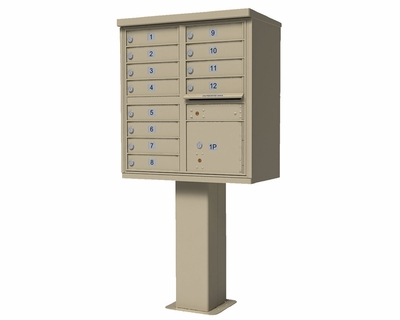 12-Tenant Door High Security Cluster Box Unit (HSCBU)