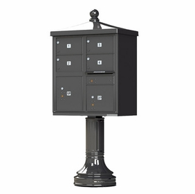 Decorative Traditional 4 Door CBU Mailboxes with Extra Large Tenant Doors Bronze