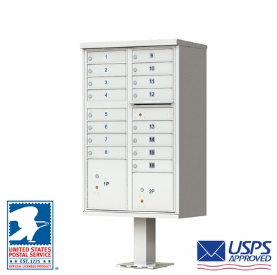16 Door CBU Mailbox - Gray