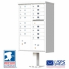 16 Door CBU Mailbox - White