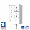 16 Door CBU Mailbox - White (Other Colors Available)