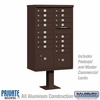 Salsbury 3316BRZ-P 16 Door Cluster Mailbox Bronze - Private Access
