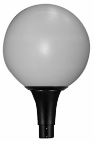 16 inch Polycarbonate Sphere Replacement Globe with 8 inch Neckless Opening