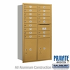Salsbury 3715D-16GRP 4C Mailboxes 16 Tenant Doors Rear Loading