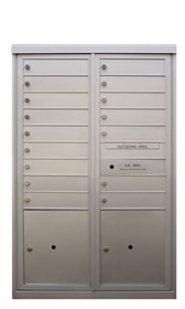 FLEX Series - Anodized 4C Mailboxes (Varying Heights)