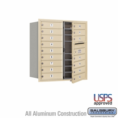 Salsbury 3709D-16SFU 4C Mailboxes 16 Tenant Doors Front Loading