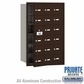 Salsbury 3618ZFP 4B Mailboxes 17 Tenant Doors Front Loading - Private Access