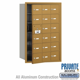 Salsbury 3618GFP 4B Mailboxes 17 Tenant Doors Front Loading - Private Access