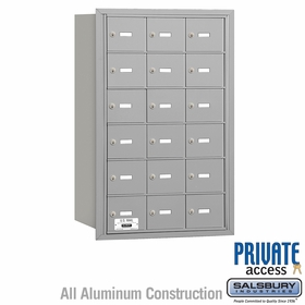 Salsbury 3618ARP 4B Mailboxes 17 Tenant Doors Rear Loading - Private Access