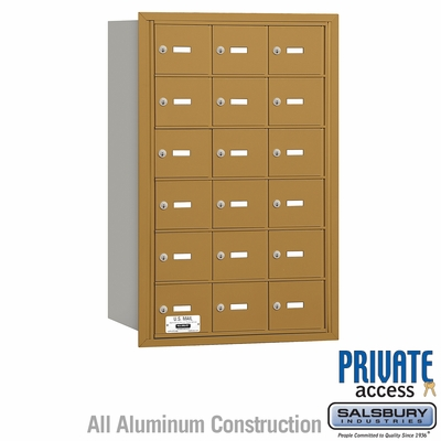 Salsbury 3618GRP 4B Mailboxes 17 Tenant Doors Rear Loading - Private Access