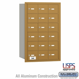 Salsbury 3618GRU 4B Mailboxes 17 Tenant Doors Rear Loading - USPS Access