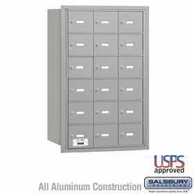 Salsbury 3618ARU 4B Mailboxes 17 Tenant Doors Rear Loading - USPS Access