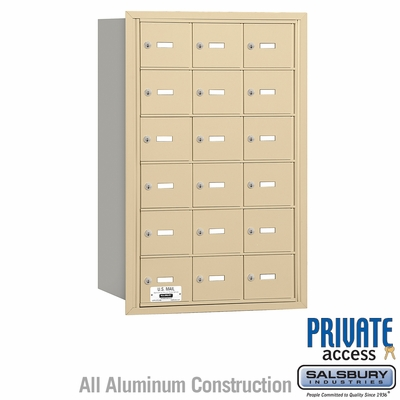 Salsbury 3618SRP 4B Mailboxes 17 Tenant Doors Rear Loading - Private Access