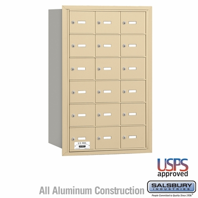 Salsbury 3618SRU 4B Mailboxes 17 Tenant Doors Rear Loading - USPS Access