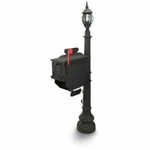 1812 Beaumont Mailbox with Lantern - Black