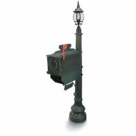 1812 Beaumont Mailbox with Lantern - Green