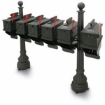 1812 Plastic Mailbox Packages - 5 Mailboxes