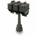 1812 Greensville 50 in. Plastic Mailboxes with Post