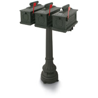 1812 Park Ridge 50 in. Plastic Mailboxes with Post
