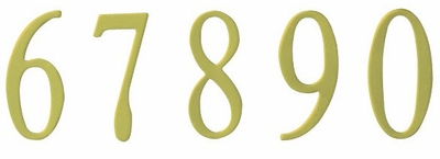 2 inch Polished Brass Curbside Mailbox Numbers