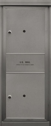 2 Parcel Lockers and 1 Outgoing Mail Slot Front Loading Max-P2 USPS Approved 4C Horizontal Mailboxes