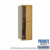 Salsbury 3711S-2PGFP 4C Mailboxes 2 Parcel Lockers Front Loading