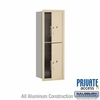 Salsbury 3711S-2PSFP 4C Mailboxes 2 Parcel Lockers Front Loading