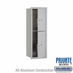 Salsbury 3711S-2PAFP 4C Mailboxes 2 Parcel Lockers Front Loading
