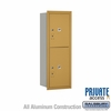 Salsbury 3711S-2PGRP 4C Mailboxes 2 Parcel Lockers Rear Loading