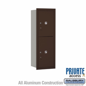 Salsbury 3711S-2PZRP 4C Mailboxes 2 Parcel Lockers Rear Loading