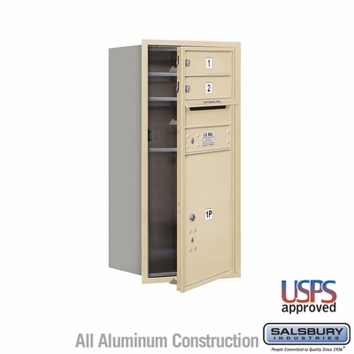 Salsbury 3709S-02SFU 4C Mailboxes 2 Tenant Doors Front Loading