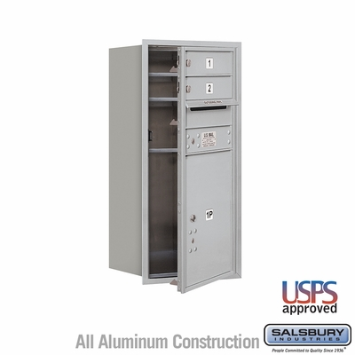 Salsbury 3709S-02AFU 4C Mailboxes 2 Tenant Doors Front Loading